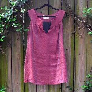 RENNE C by SO COOL maroon metallic mini dress!